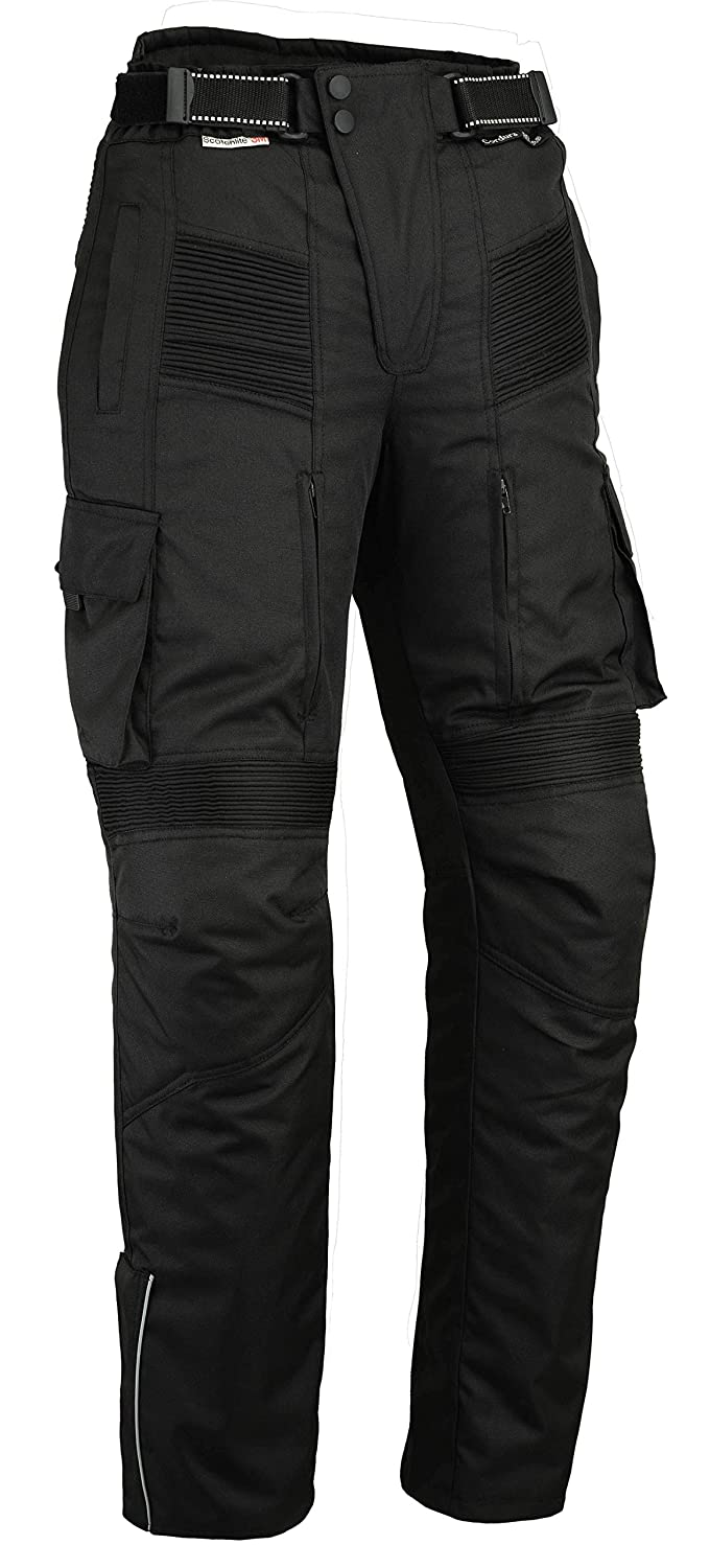 UK 32R EU 42R MEDIUM Vented Bikers Gear Australia New Cargo Textile Cordura Waterproof Motorcycle Trousers with Removable Thermal Liner and CE 1621-1 Armour