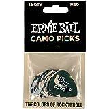 Ernie Ball P09222 Medium Camouflage Cellulose Picks 12 Piece Bag, Medium