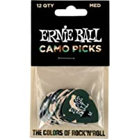 Ernie Ball Medium Camouflage Picks, Bag of 12