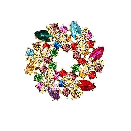 c93ddb9d45e Elehere 2019 Art Deco Crystal Brooch for Wedding Dress, Bridal Sash,  Statement Rhinestone Pin