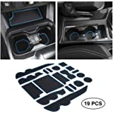 JKCOVER Premium Custom Liner Mat Accessories Compatible with Toyota Tacoma 2016 2017 2018 2019 2020 2021, Cup Holder, Door Po