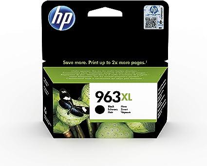 Oferta amazon: HP 963XL 3JA30AE, Cartucho de Tinta Original de alto rendimiento, negro, compatible con impresoras de inyección de tinta HP OfficeJet Pro Series 9010, 9020