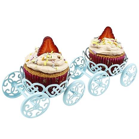 Amazon.com: Zoie + Chloe - Soporte para cupcakes (2 unidades ...