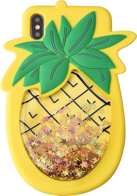 Funda iPhone X LoveCases Glitter - Oro