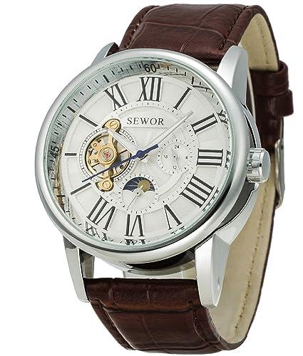 aa739981d1d8 Sewor Tourbillon - Reloj de pulsera mecánico automático para hombre ...