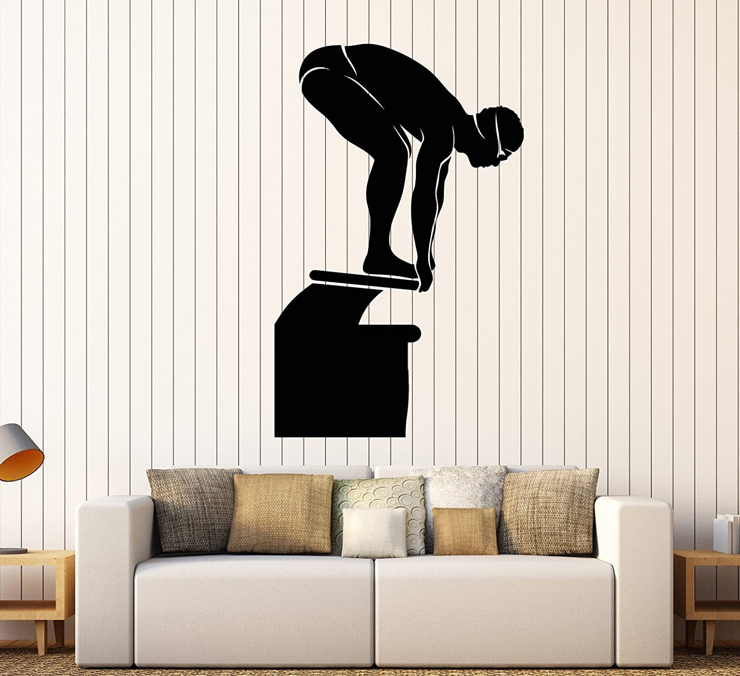 Amazon Vinyl Wall Decal Swimmer Water Sport Swimming Pool