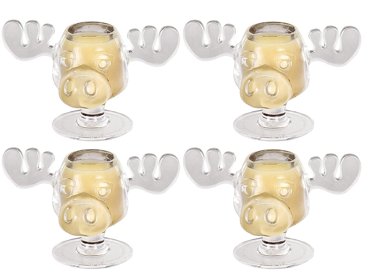 (Set/4) Lampoon's Christmas Vacation Walley World Moose Head Shot Glasses by ICUP