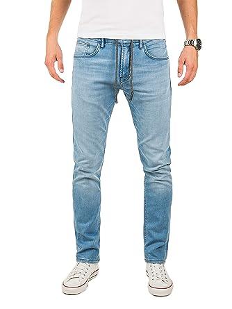 acheter populaire e4c51 8a8e7 Yazubi Homme Jean Vetement Erik - Slim Fit Jogging Pantalon - Sweatpants in  Jeans-Look