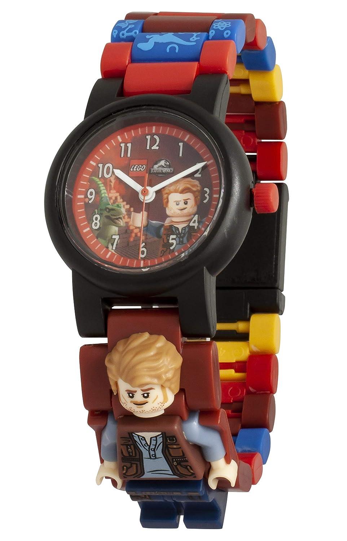 Amazon.com: LEGO Watches and Clocks Boys Jurassic World Owen Quartz Plastic Watch, Color:Red(Model: 8021261): Watches