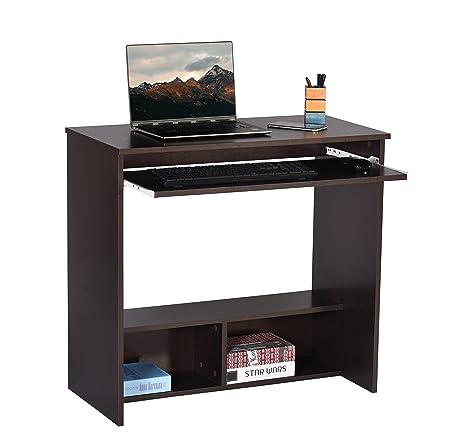 DeckUp Wood Matte Finish Bonton Table and Study Desk (Dark Wenge)