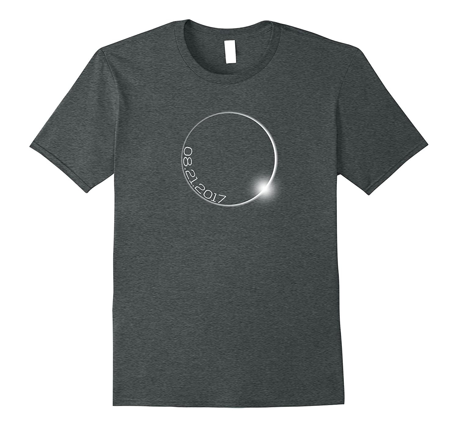 Solar Eclipse Outline With Date Tee Shirt for Men Women Kids-TH