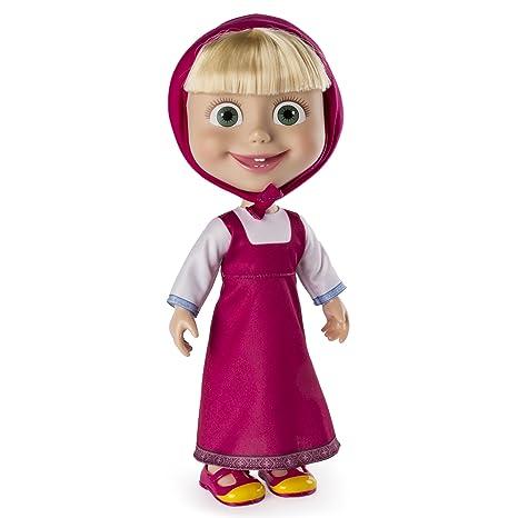 "5277e11a01545 Masha and the Bear - 12"" Giggle and Play Masha - Interactive Doll"