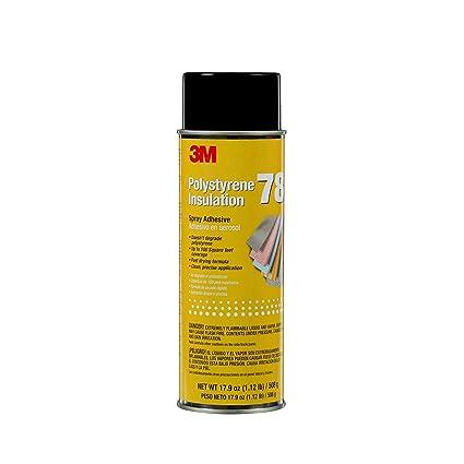 3 M 78 aislamiento de espuma de poliestireno Spray adhesivo, translúcido 17,9 Oz