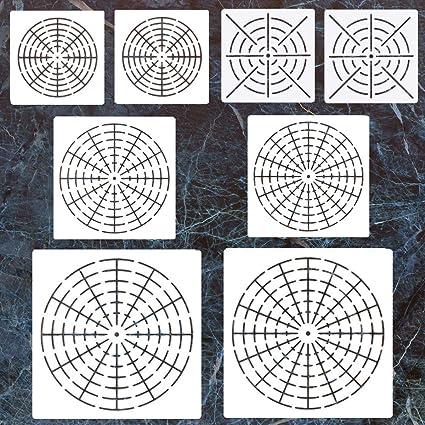 amazon com 8 pack mandala dotting stencils template mandala