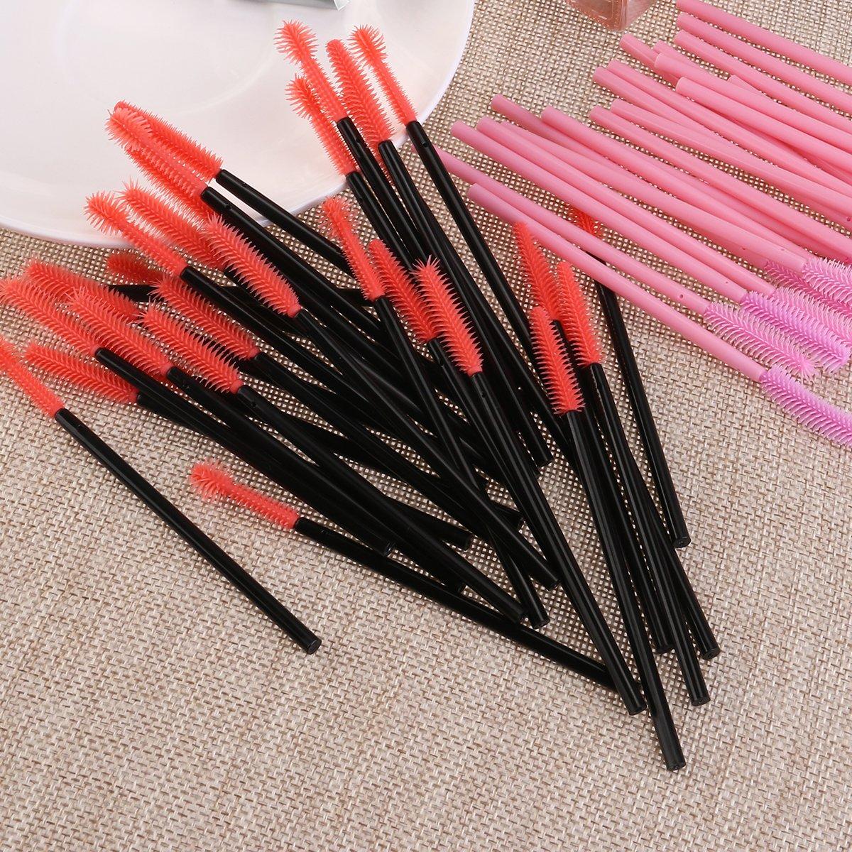 Mascara Brush, 50pcs Disposable Silicone Mascara Wands Brush Set