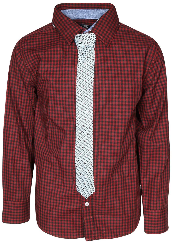 Ben Sherman Boys Long Sleeve Shirt Tie Set