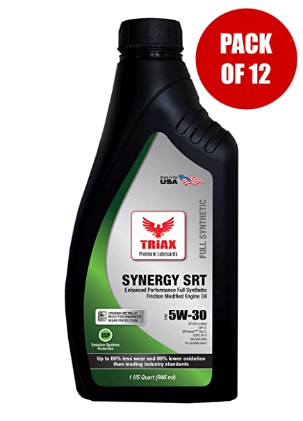 Triax API Licensed - Extreme Full Synthetic Engine Oil with Moly - 5W-30 Synergy