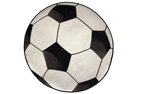 Bavaria Home Style Collection Fussball Teppich Fussballteppich Kinderteppich Spielteppich Fussballteppich Ca 80 Cm Rund