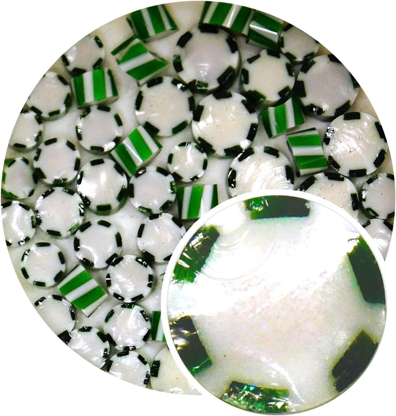 90 Coe Green Peppermint Twist Millefiori