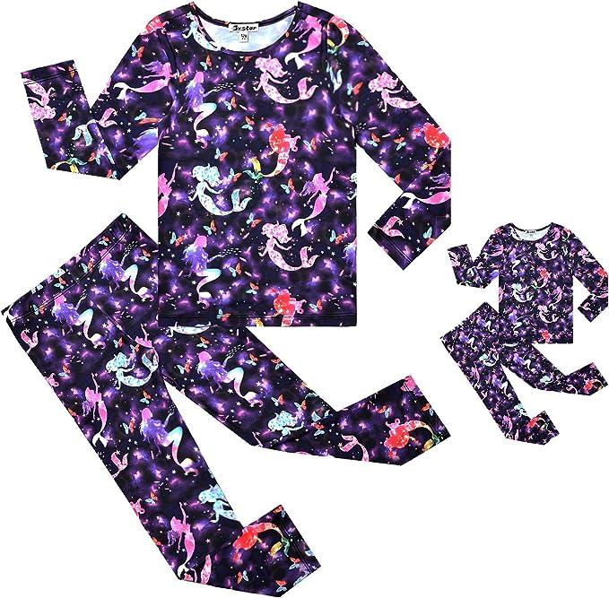 Matching Dolls /& Girls Pajamas Unicorn Pjs Set Kids America Girl Dolls Clothes