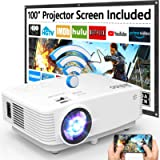 WiFi Projector, Jinhoo Mini Projector 6500 Lumen with 100 Inch Screen, Full HD 1080P Supported Portable Projector…