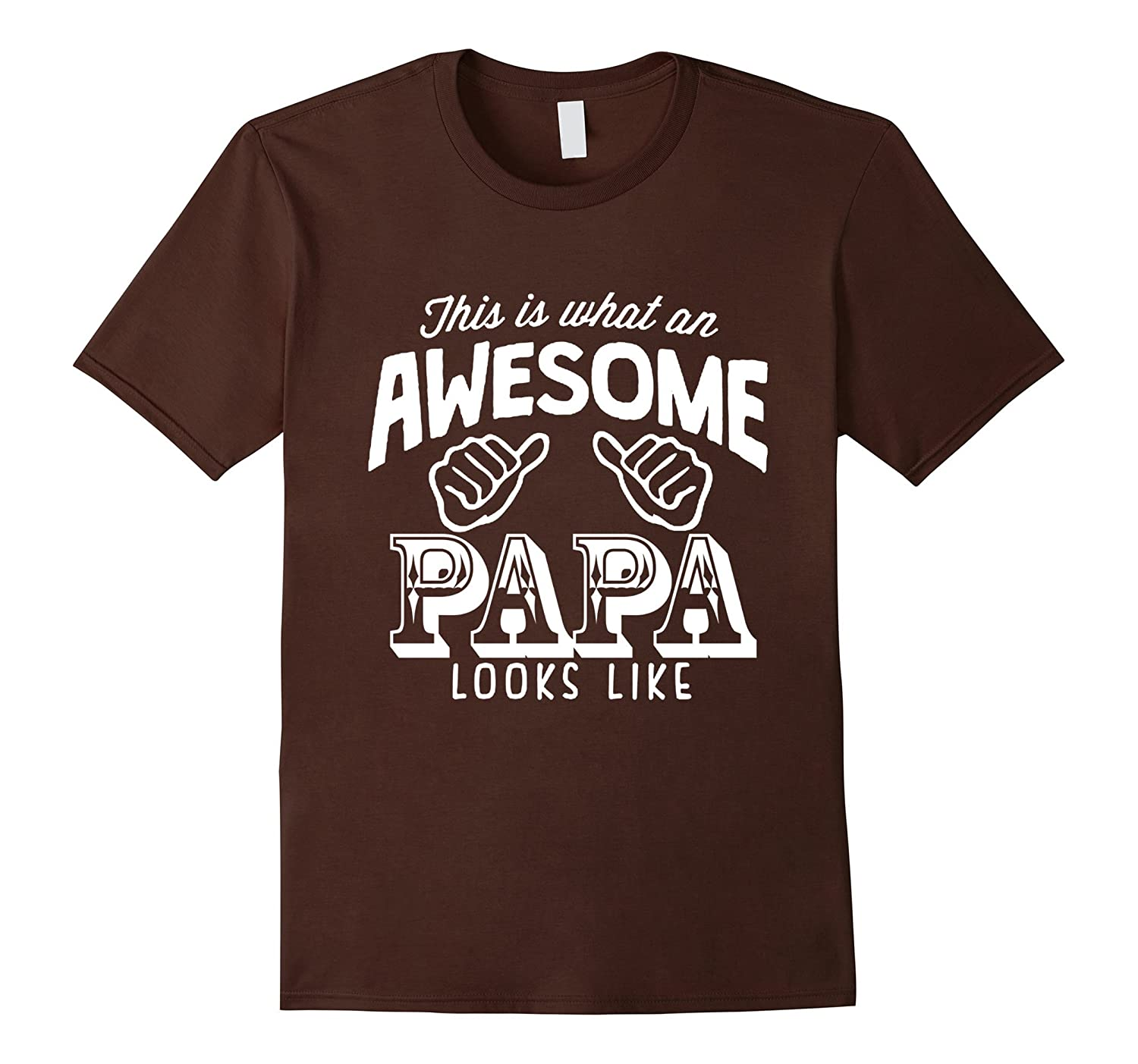 Mens This is What Awesome PAPA Looks Like T Shirt Gift-TH