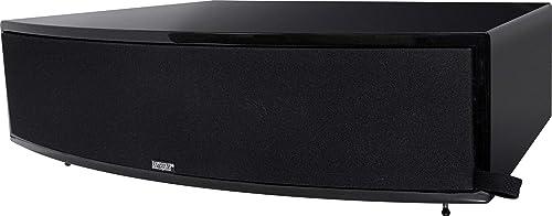 Earthquake Sound Titan Theia Curved Cabinet Center Channel Speaker, Single – Piano Black
