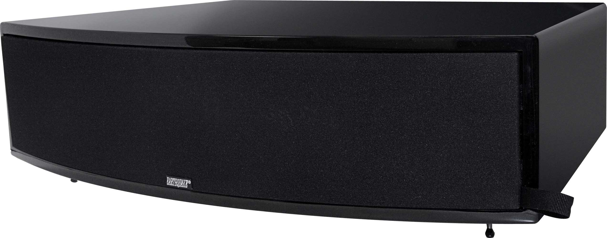Earthquake Sound Titan Theia Curved Cabinet Center Channel Speaker, Single - Piano Black by Earthquake Sound