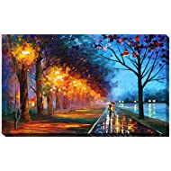 "Picture Perfect International Giclee Stretched Wall Art by Leonid Afremov Alley by The Lake Artists-Canvas, 24"" x 40"" x 1"""