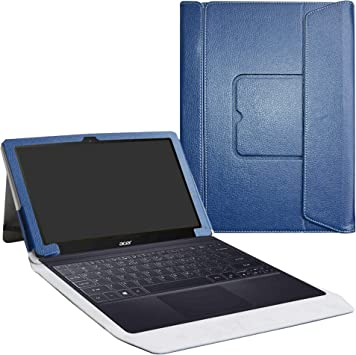Acer Switch 3 Funda,LiuShan 2-en-1 Portafolio de Cuero Sintético con Soporte y Base de Teclado Desmontable para 12.2