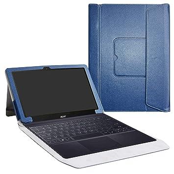 LiuShan Acer Switch 3 Funda, 2-en-1 Portafolio de Cuero Sintético con Soporte y Base de Teclado Desmontable para 12.2
