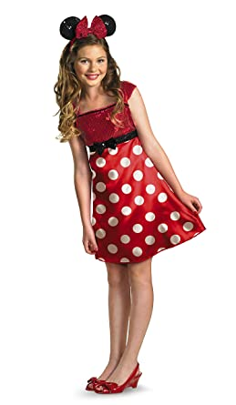 998a952fb43 Disney Minnie Mouse Clubhouse Tween Costume Red White Black Medium 7-8