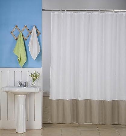 Gorgeoushome H10 Weiss Taupe Color Block Neue Duschvorhang Badezimmer Badewanne 2 Mix Farbe 182 9 X 182 9 Cm Wasserabweisend 1 Amazon De Kuche Haushalt