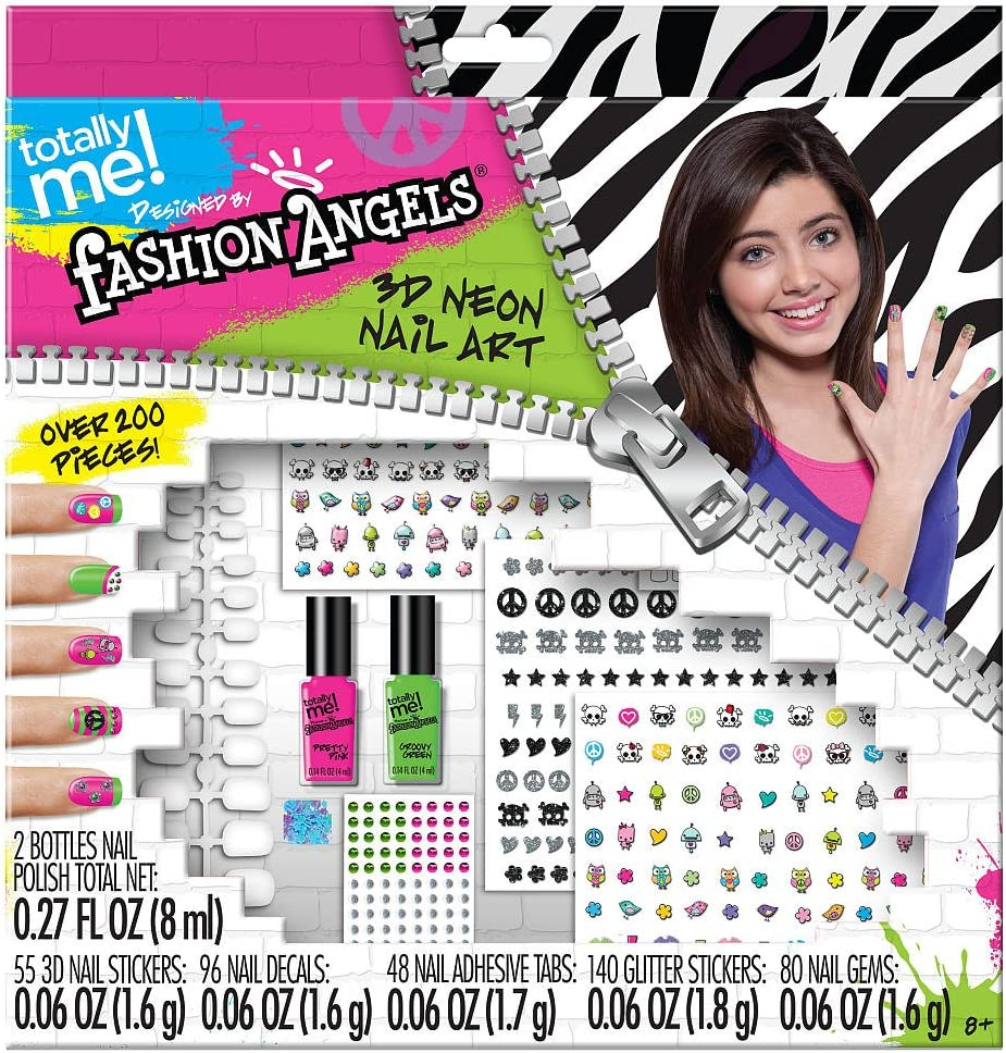 Amazon Com Totally Me Fashion Angels 3d Neon Nail Art Set Health Personal Care