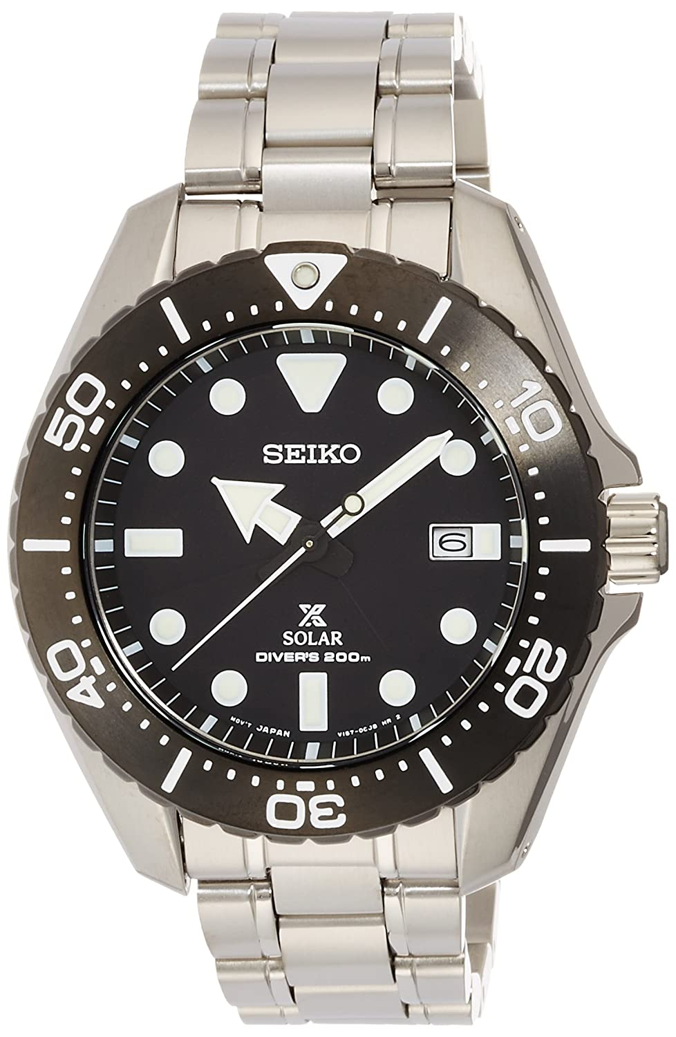 Amazon.com: SEIKO PROSPEX solar Divers 20BAR SBDJ013 Mens Watches: Watches