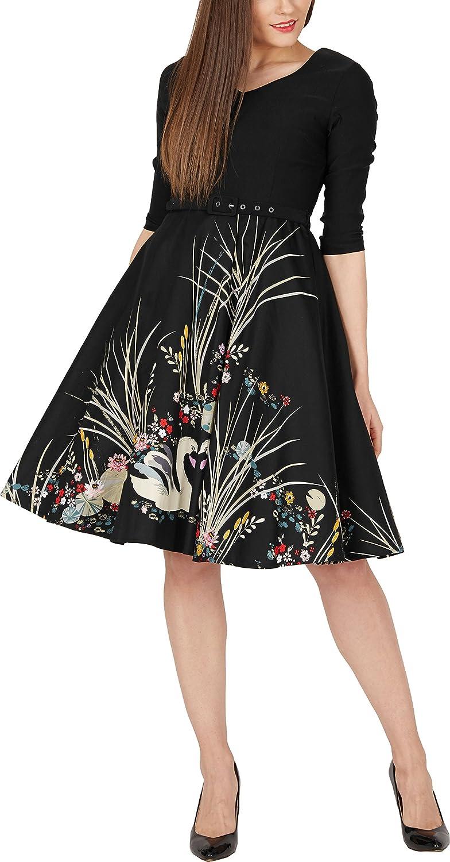 BlackButterfly Zara Vintage Swan 50s Dress at Amazon Womens Clothing store: