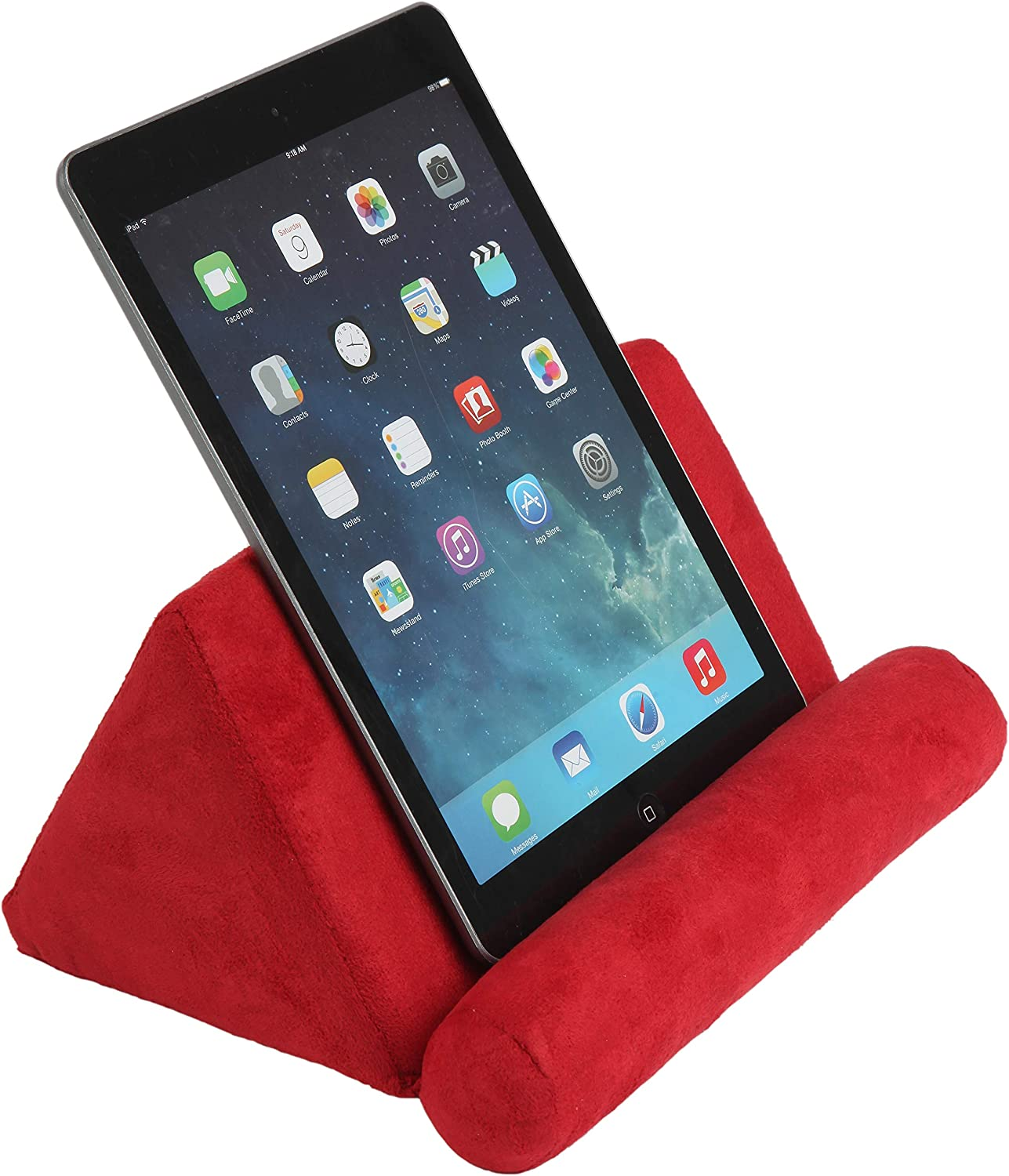 Trenton Gifts Plush Tablet Holder   Hands Free   Great for E-Readers & Smartphones   Red