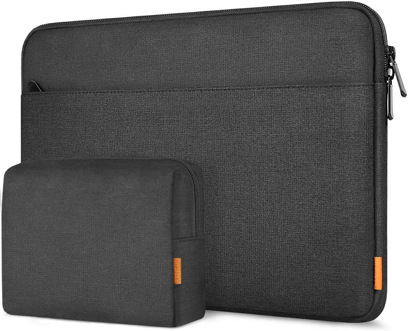 Inateck 15-15.6 Inch Laptop Sleeve Case Bag with Accessory Pouch Compatible with Laptops/Chromebooks/Notebooks - Black