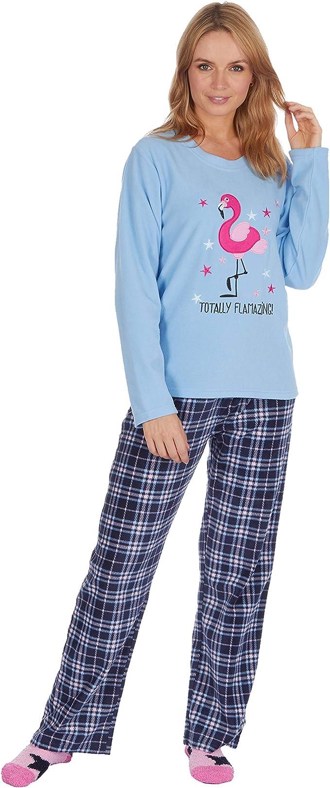 Forever Dreaming Ladies Checked Fleece Pyjama Set