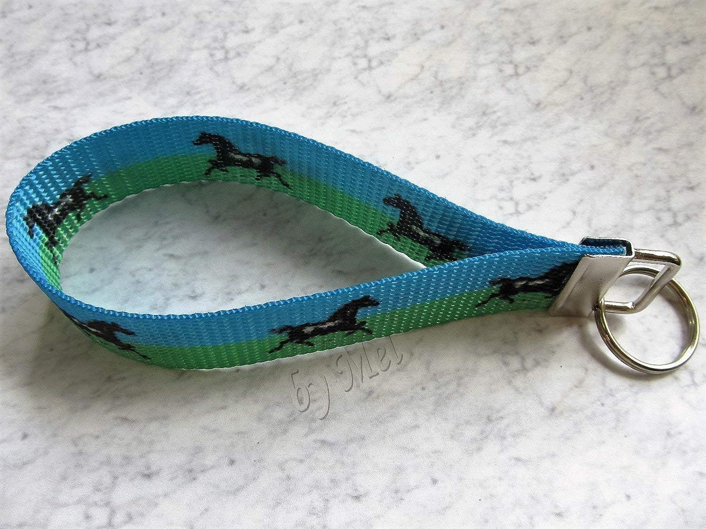 Key Chain Running Horses Horse Lovers Wristlet
