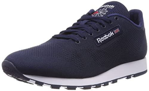 5513780a5e764 Reebok Men s Classic Leather Ultraknit Low-top Sneakers Grey (Collegiate  Navwhite) 6.5 UK