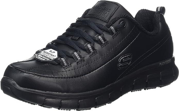 Skechers Sure Track-Trickel, Zapatos de Trabajo para Mujer