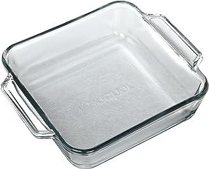 Anchor Hocking 8-Inch Oven Basics Square Cake Dish, Set of 3