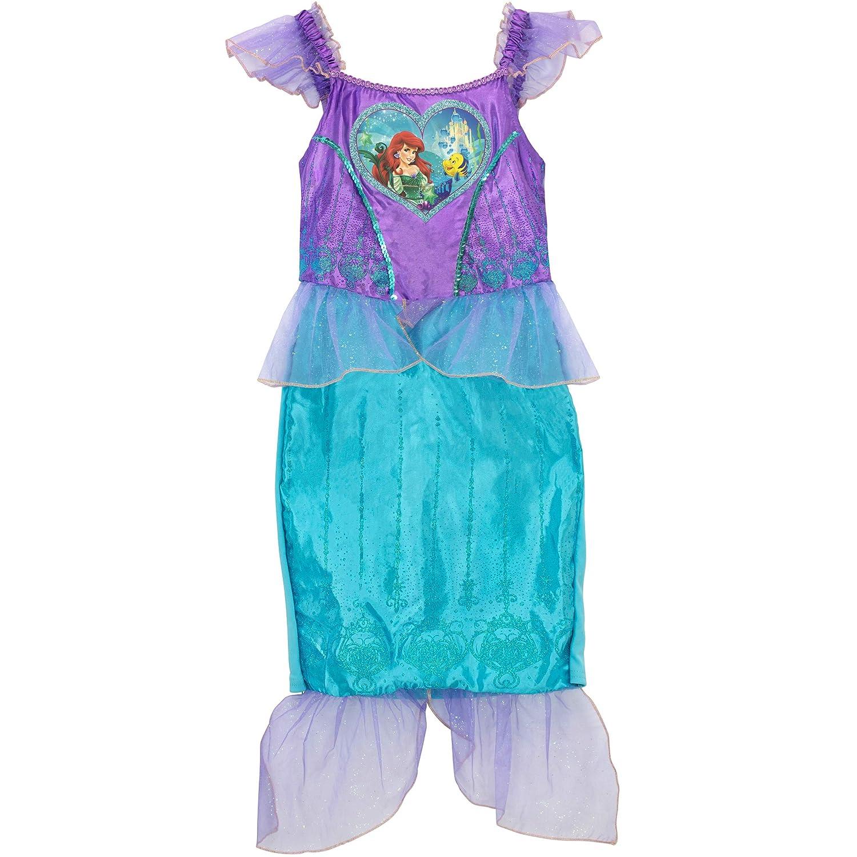 Disney Girls The Little Mermaid Ariel Dress Up Costume with Bag