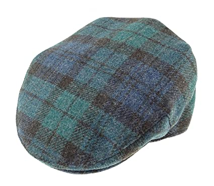 17a7314df35 Glen Appin Mens Scottish BlackWatch Tartan Golf Polo Hat Cap Wool (XL)