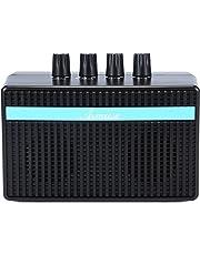 Asmuse™ 3W Mini Amplificador Combo para guitarras Bajo Eléctrico Instrumentos Amp con efecto de Distorsión y USB Recargable 5V
