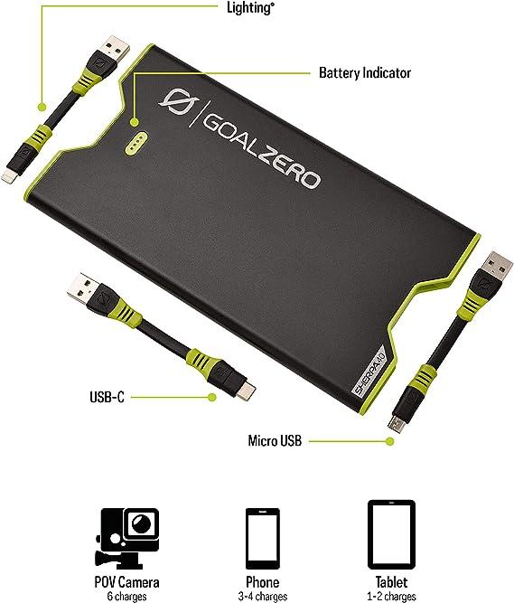 Goal Zero Sherpa 40 Micro Lightning Usb C Black Elektronik