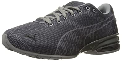 PUMA Men's Tazon 6 WOV Wide Cross-Trainer Shoe, Quiet Shade Black, 7