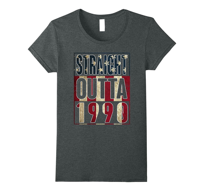 27th Birthday Straight outta 1990 American flag T Shirt