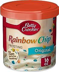 Betty Crocker Rich & Creamy Frosting, Rainbow Chip, 16 oz